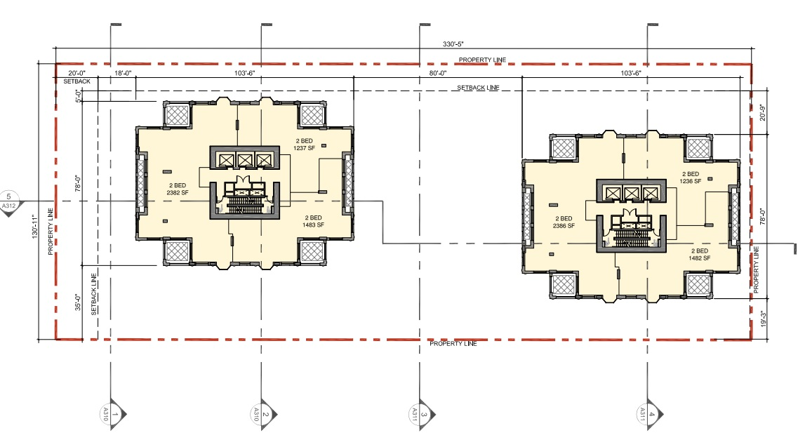 Typical tower floor plan